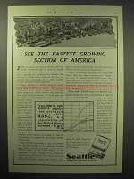 1929 Seattle Chamber of Commerce Ad - Fastest Growing