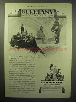 1929 Germany Tourism Ad - Land of Travel Comfort