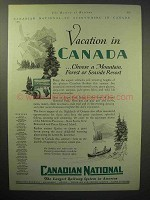 1929 Canadian National Railway Ad - Vacation