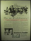 1929 Southern Pacific Railroad Ad - On to California