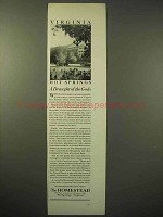 1929 The Homestead Resort Ad - Hot Springs Virginia