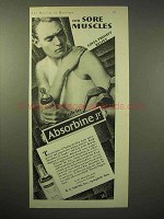 1929 Absorbine Jr. Ointment Ad - For Sore Muscles