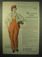 1929 Ethyl Gasoline Ad - High Compression