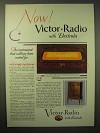 1929 Victor-Radio with Electrola Ad - Millions Waited