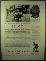 1929 Bell & Howell Filmo 70-D Movie Camera Ad