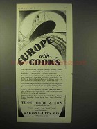 1929 Thos. Cook & Son Cruise Ad - Europe with Cook's