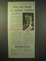 1929 Phoenix Mutual Insurance Ad - Laugh At Worries