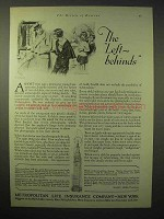 1929 Metropolitan Life Insurance Ad - The Left-Behinds