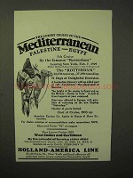 1929 Holland-America Line Cruise Ad - Luxury Mediterranean