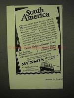 1929 Munson Steamship Lines Cruise Ad - South America