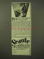 1929 Seattle Washington Tourism Ad - Evergreen