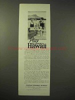 1926 Hawaii Tourism Ad - Play This Summer
