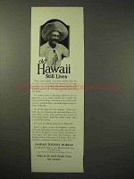 1926 Hawaii Tourism Ad - Old Hawaii Still Lives