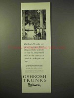 1926 Oshkosh Trunks Ad - Rather Expensive