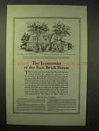 1926 American Face Brick Ad - Six Room House No. 633