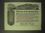 1926 Hudson River Day Line Cruise Ad - Marvels of Trip