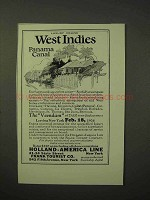 1926 Holland-America Line Cruise Ad - West Indies