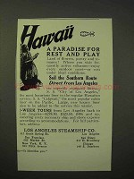 1926 Los Angeles Steamship Co. Cruise Ad - Hawaii