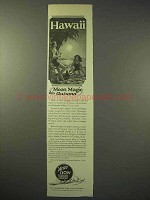 1925 Hawaii Tourism Ad - Moon Magic this Autumn