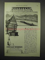 1925 Germany Tourism Ad - Your Vacation Paradise