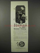 1925 Hawaii Tourism Ad - Torch Fishing - Summer Holiday