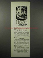 1925 Hawaii Tourism Ad - Hat Weavers - Palm Leaf Hats