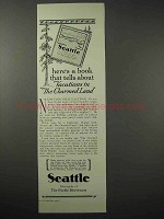 1925 Seattle Tourism Ad - Vacations in Charmed Land