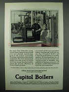 1925 Capitol Boilers Ad - Tested the Science of Heating