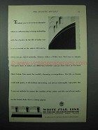 1925 White Star Line Cruise Ad - Never Been Abroad