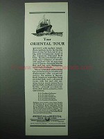 1925 American Oriental Mail Line Cruise Ad - Your Tour