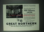 1925 Great Northern Railway Ad - New Oriental Limited