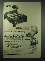 1923 Addressograph Model H-1 Machine Ad - No Excuse