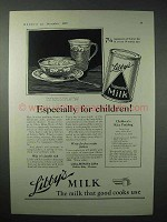1923 Lbby's Evaporated Milk Ad, Especially for Children