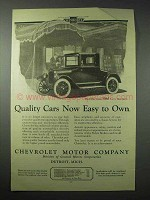1923 Chevrolet Utility Coupe Car Ad - Easy to Own
