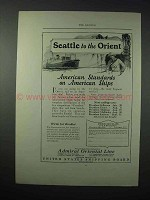 1923 Admiral Oriental Line Cruise Ad, Seattle to Orient