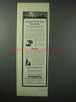 1923 Raymond & Whitcomb Cruise Ad - Iceland North Cape