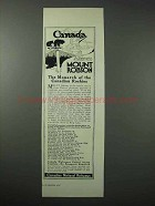 1923 Canadian National Railways Ad - Mount Robson