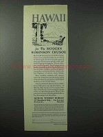 1923 Hawaii Tourism Ad - For the Modern Robinson Crusoe