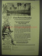 1923 Hawaii Tourism Ad - Four Ports to Paradise