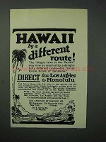 1923 Los Angeles Steamship Co. Cruise Ad - Hawaii