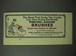 1923 Whiting-Adams Brushes Ad - Hand that Rocks Cradle