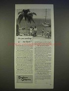 1940 Southern California Tourism Ad - Working Too Hard?