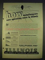 1940 Illinois Development Council Ad - Save Costs