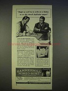 1940 Hammermill Mimeo-Bond Paper Ad - Might As Well