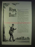 1940 Comptometer Adding Machine Ad - Hiya, Doc!