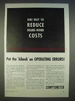 1940 Comptometer Adding Machine Ad - Operating Errors