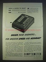 1940 Comptometer Model M Adding Machine Ad - Easier