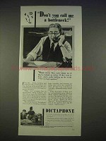 1940 Dictaphone Machine Ad - Don't Call Me a Bottleneck