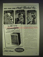 1940 Carrier Humidifier Ad - Relief Heat-Parched Air