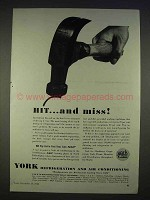 1940 York Refrigeration and Air Conditioning Ad